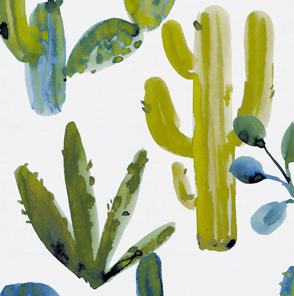 Product image for Blue Painted Cactus Drape Panel