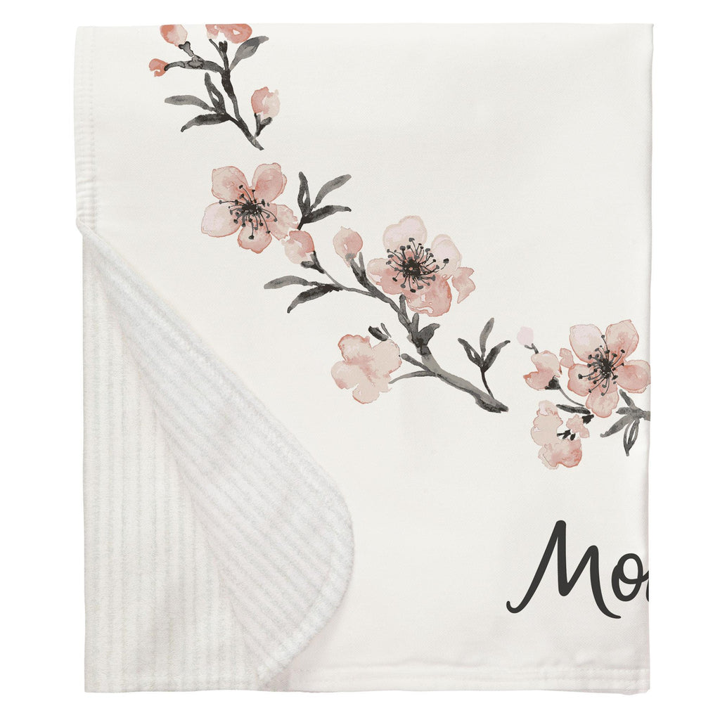 Product image for Cherry Blossom Milestone Baby Blanket