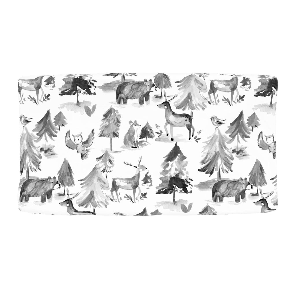 Product image for Gray Painted Forest Changing Pad Cover