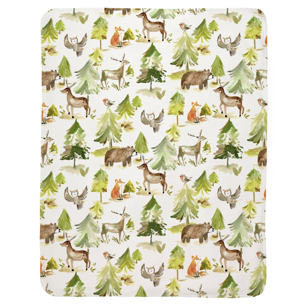 Product image for Painted Forest Baby Blanket