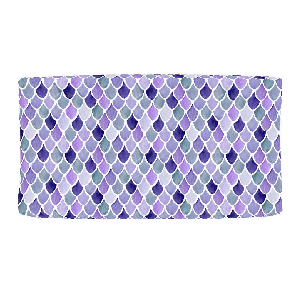 Product image for Lilac Watercolor Scales Changing Pad Cover