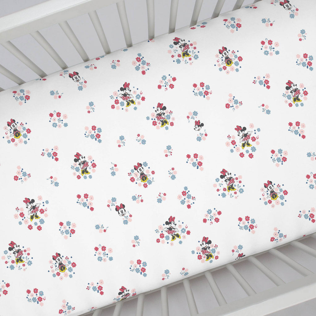Product image for Disney© Small Town Minnie Crib Sheet