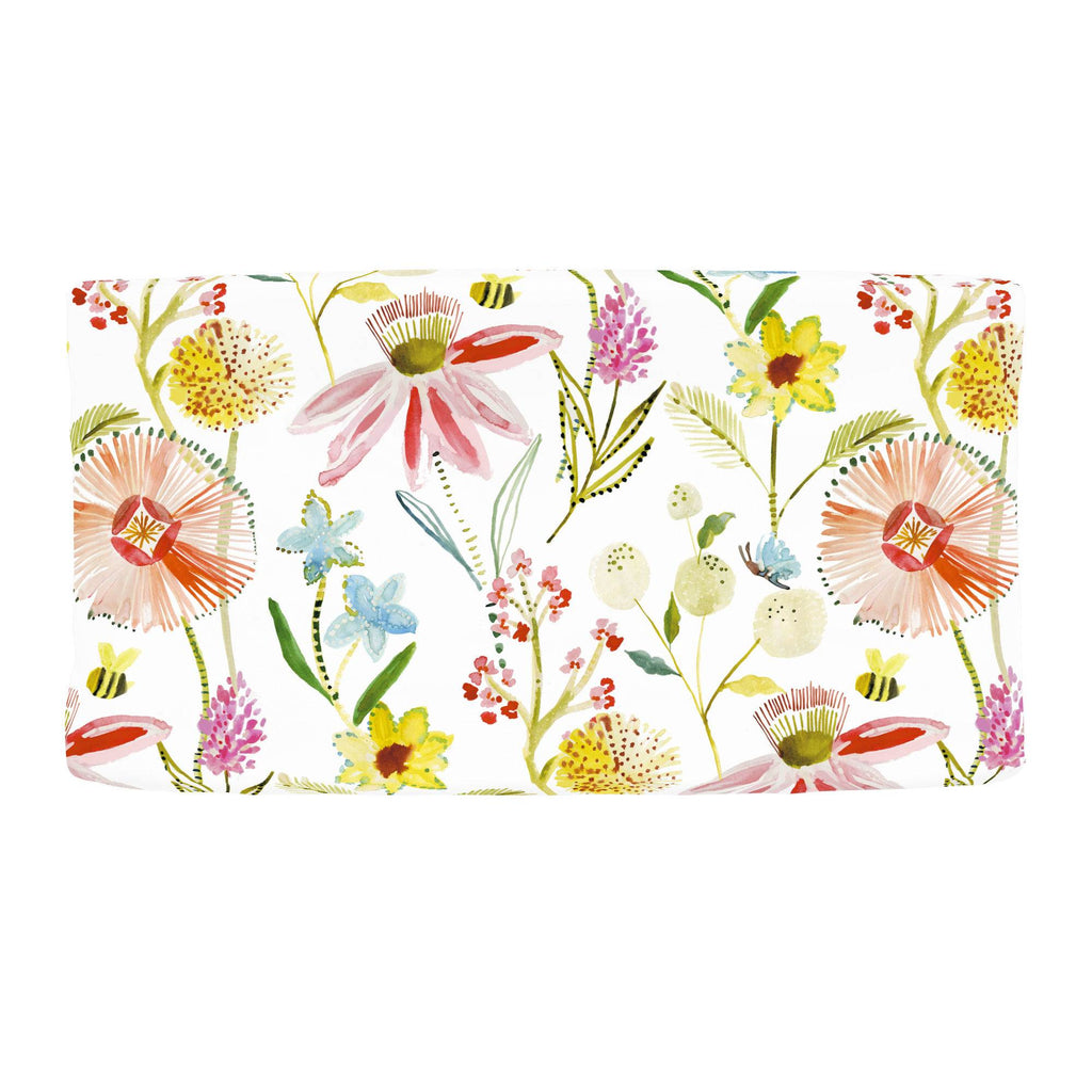 Product image for Watercolor Springtime Changing Pad Cover