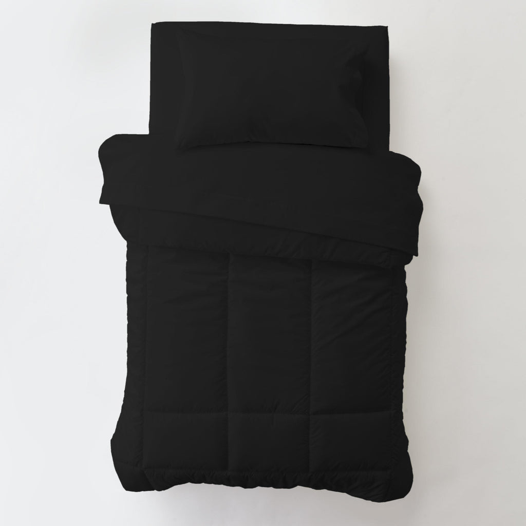 Product image for Solid Black Toddler Comforter