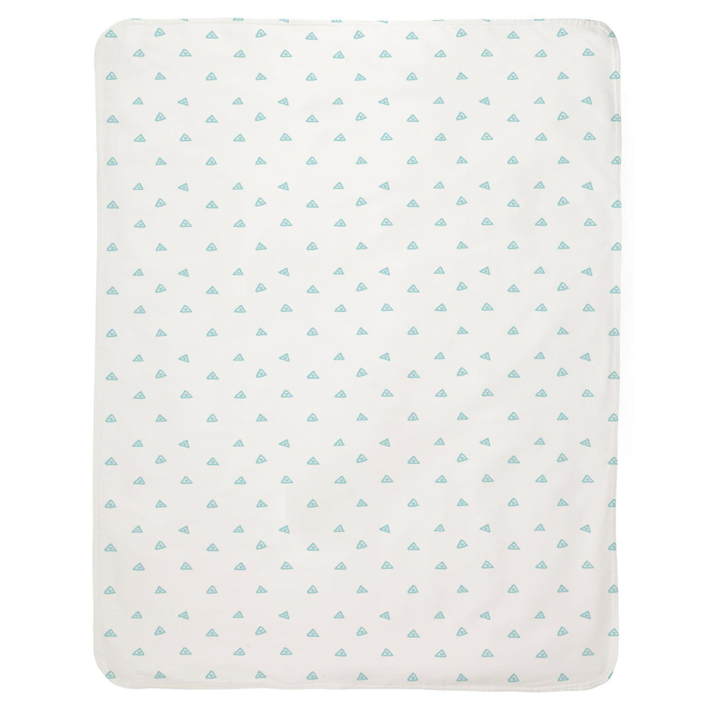 Product image for Seafoam Aqua Triangle Dots Baby Blanket