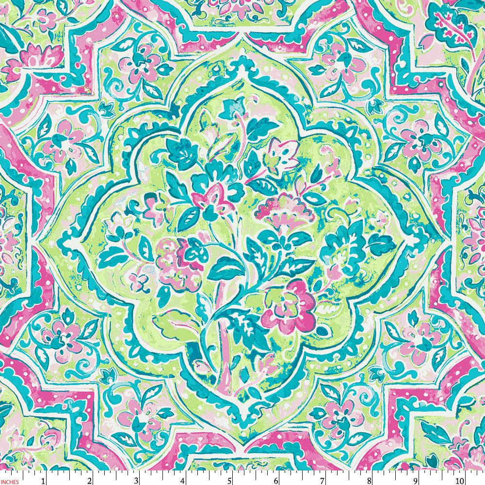 Product image for Pink Watercolor Medallion Fabric