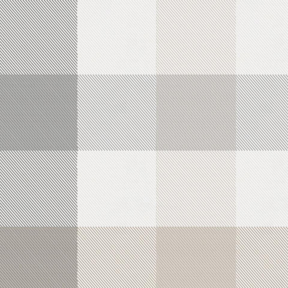 Product image for Gray and Taupe Buffalo Check Drape Panel