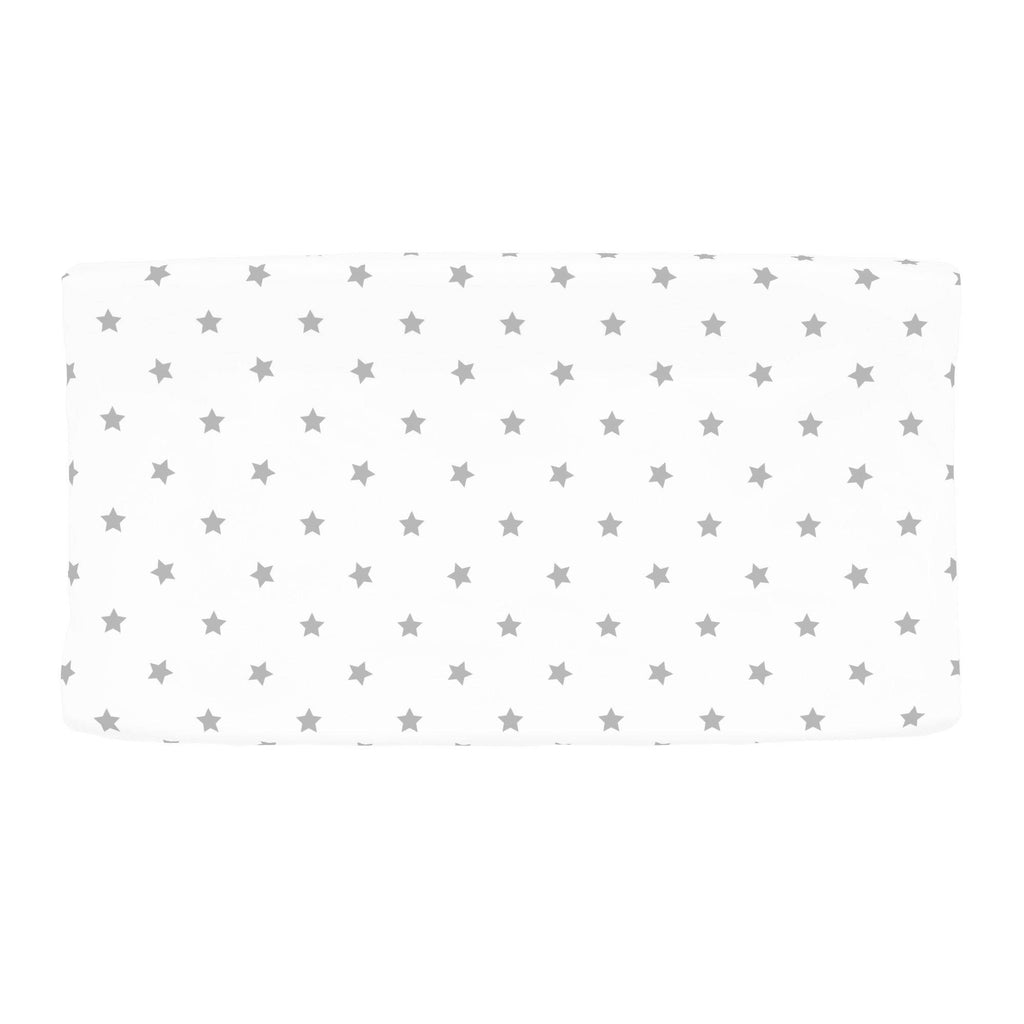 Product image for Silver Gray Stars Changing Pad Cover