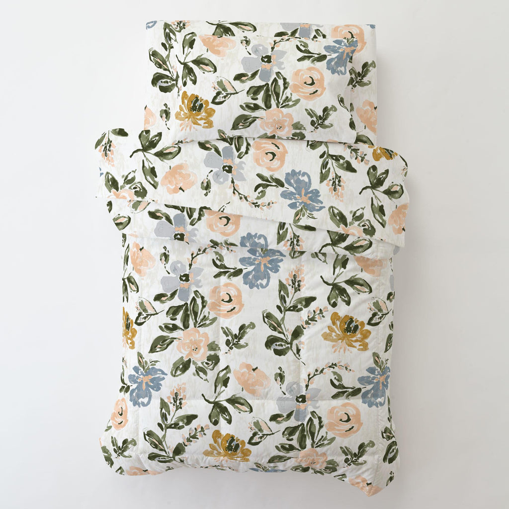 Product image for Blush Garden Toddler Pillow Case with Pillow Insert