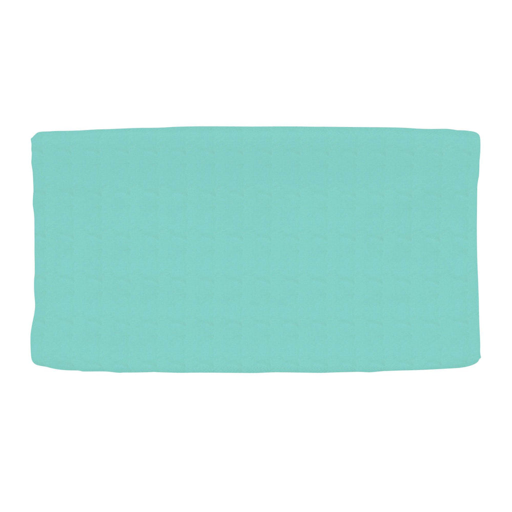 Product image for Solid Teal Changing Pad Cover