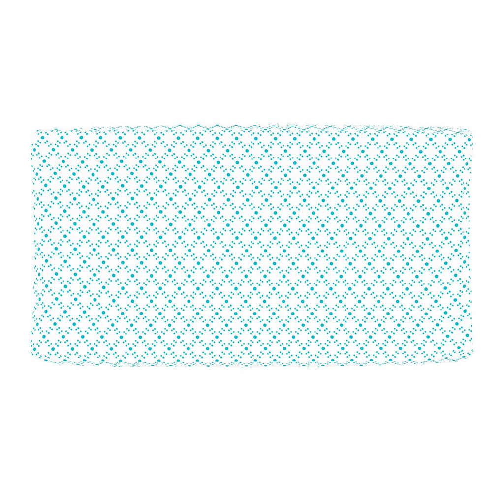 Product image for Teal Lattice Dots Changing Pad Cover