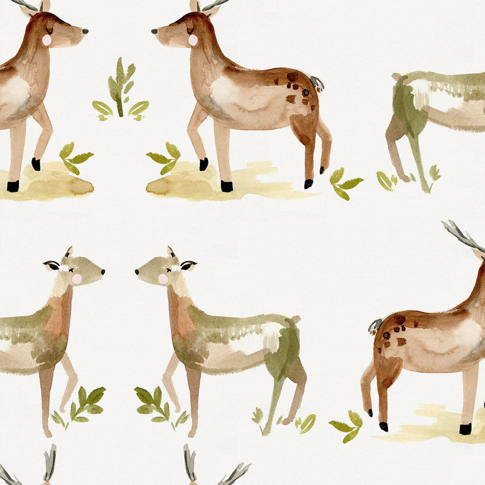 Product image for Painted Deer Lumbar Pillow