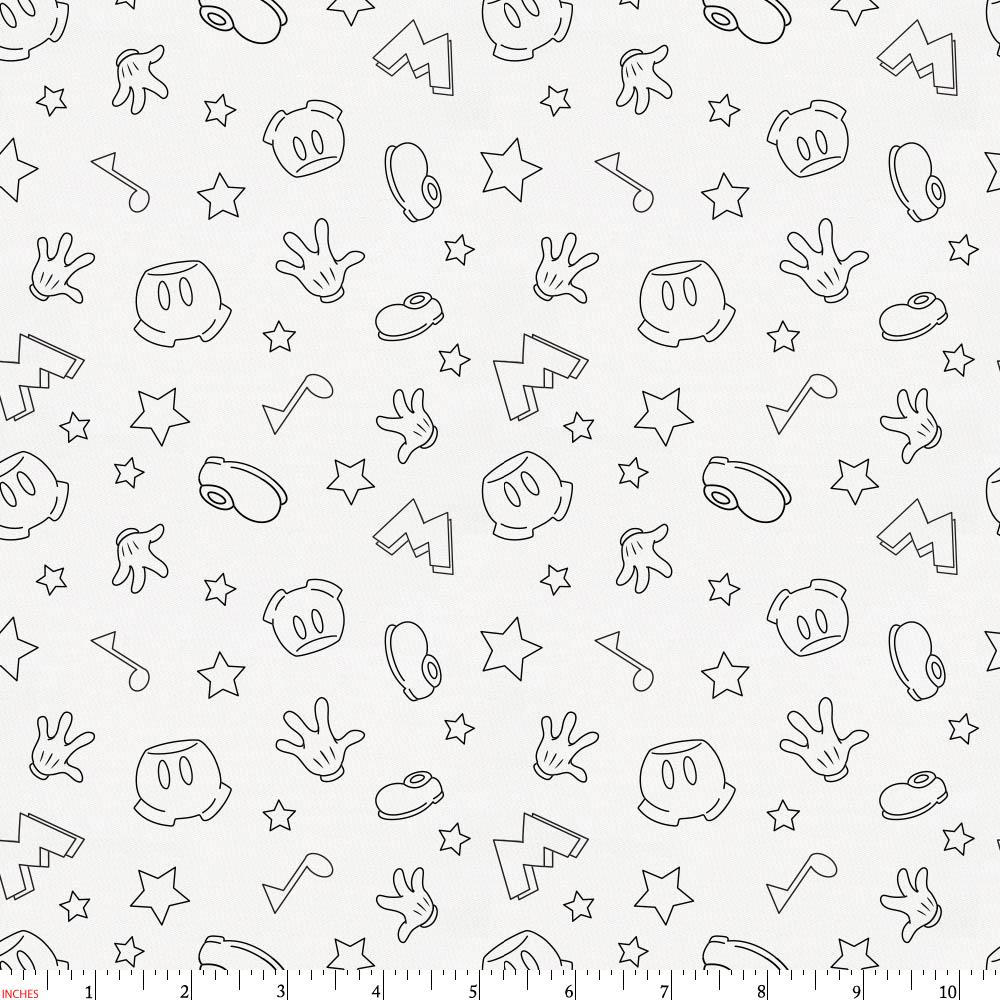Product image for Disney© Onyx Mickey Icons Fabric