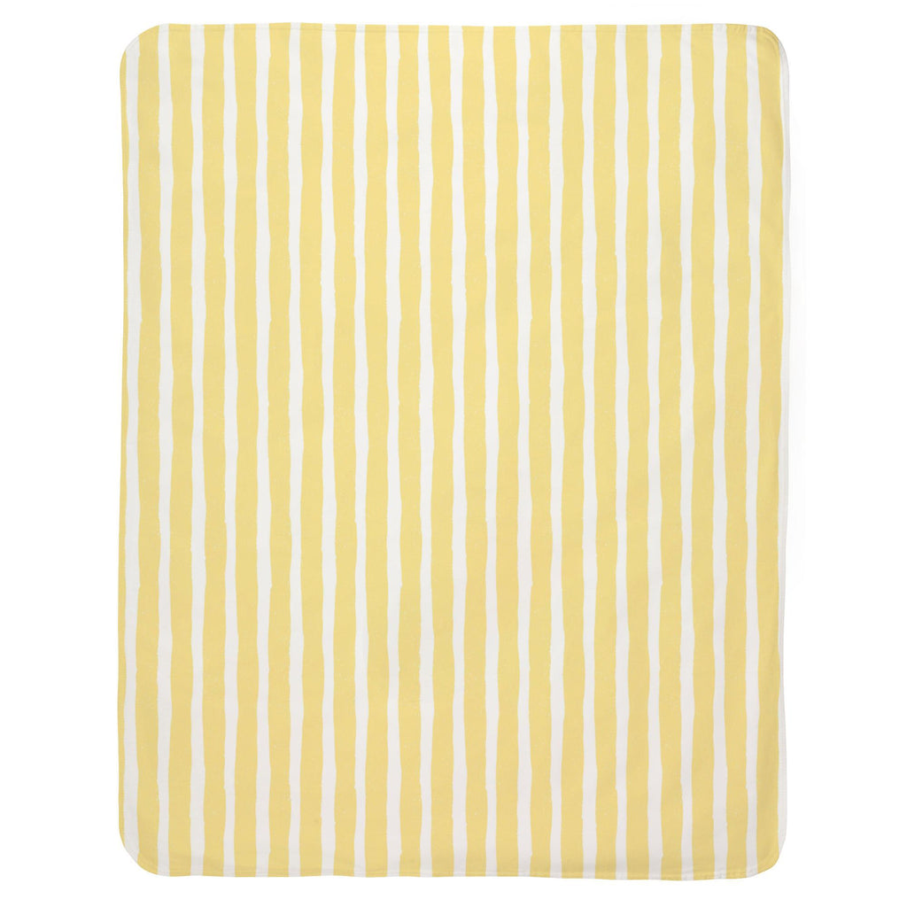 Product image for Banana Yellow Weathered Stripe Baby Blanket