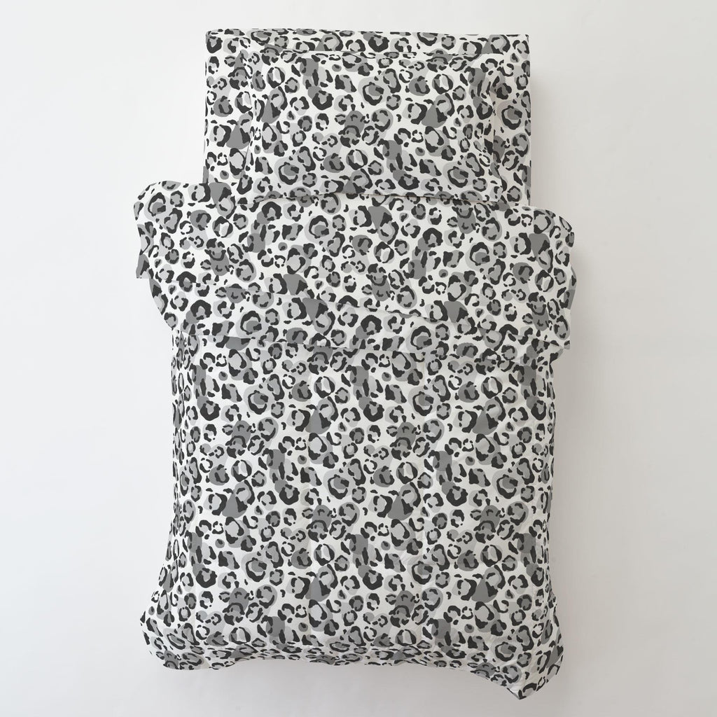 Product image for Gray Leopard Toddler Comforter