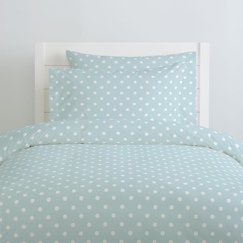 Product image for Mist and White Polka Dot Pillow Case