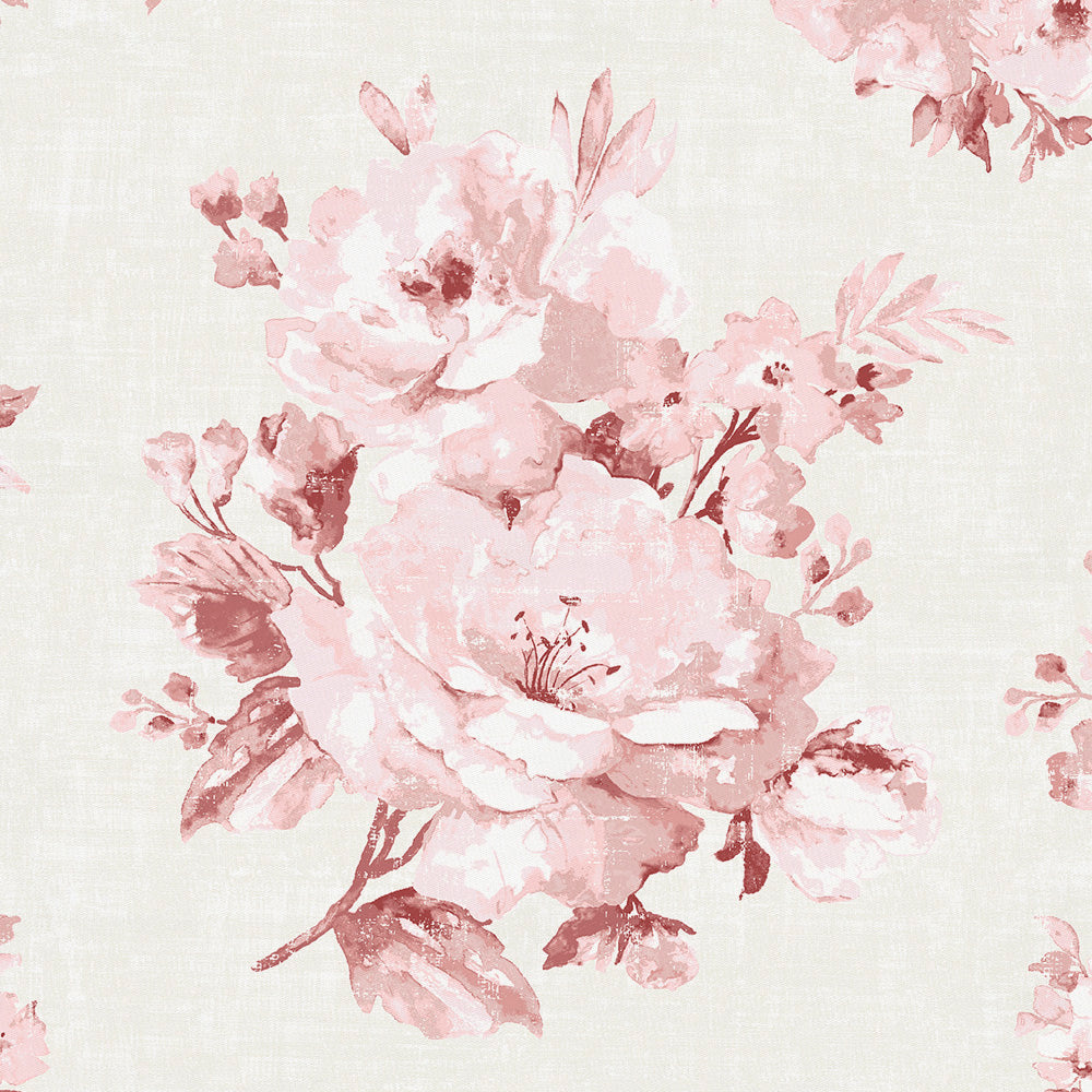 Product image for Rose Farmhouse Floral Accent Pillow