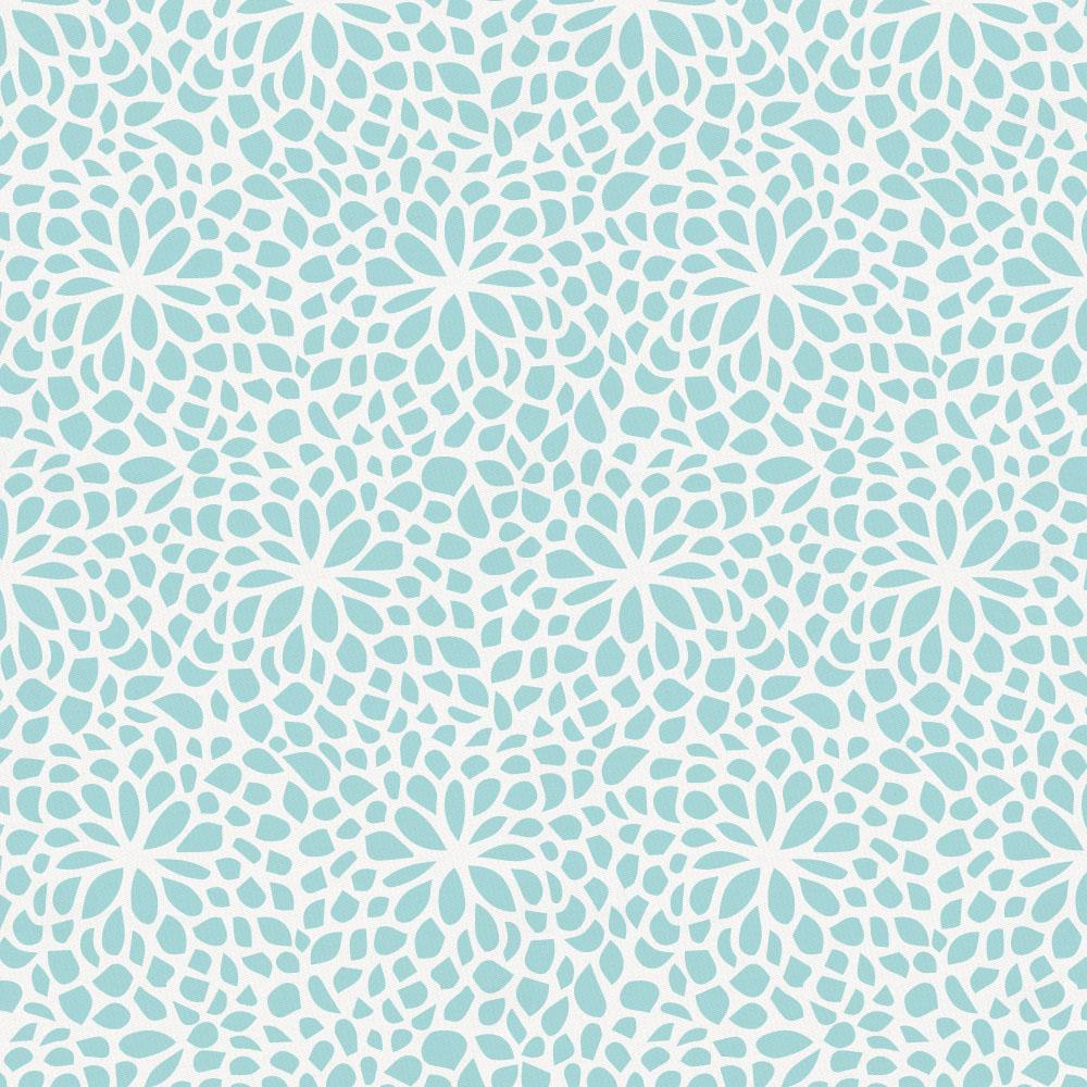 Product image for Seafoam Aqua Modern Mums Drape Panel