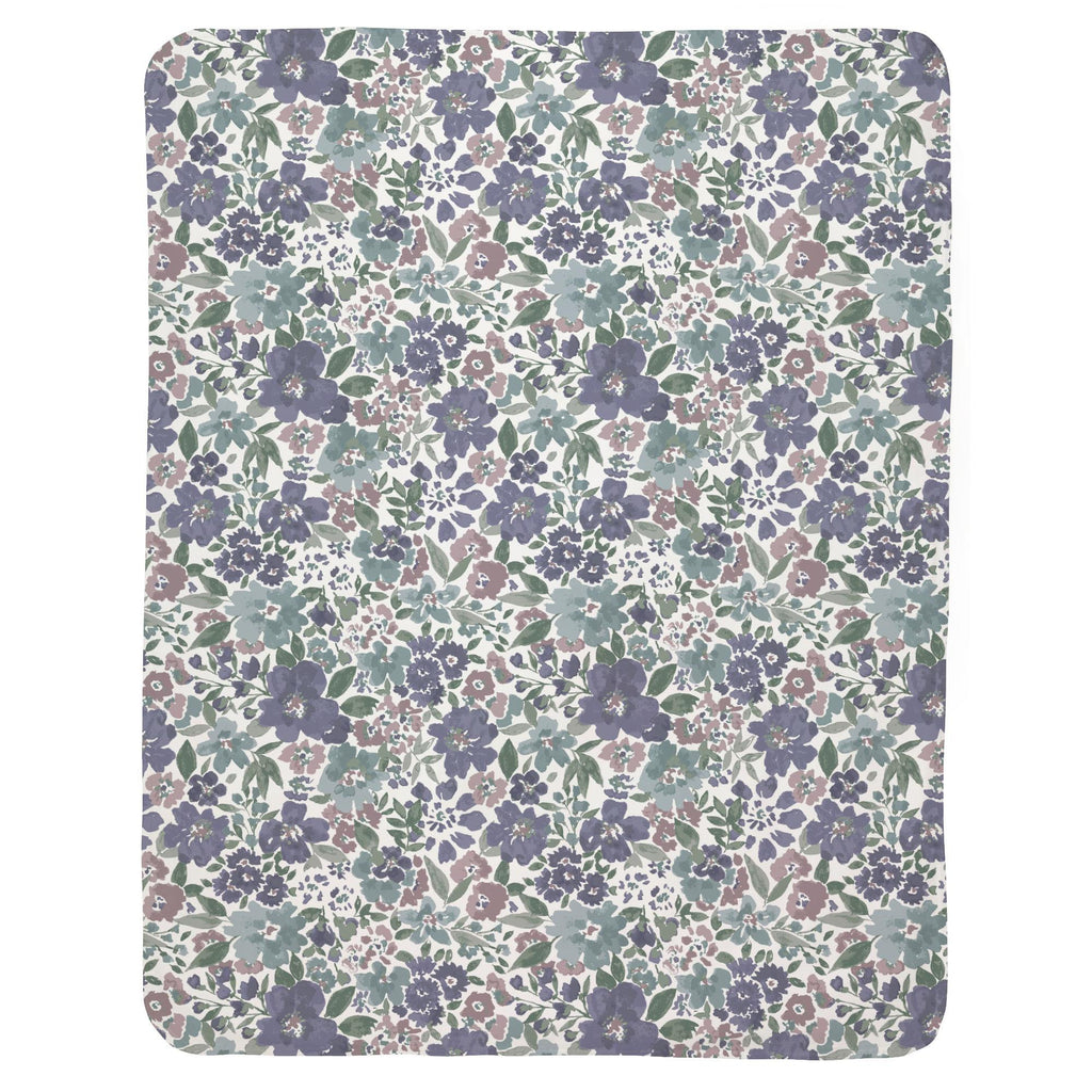 Product image for Purple Prairie Floral Baby Blanket