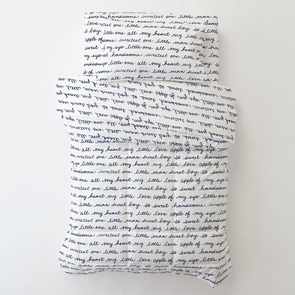 Product image for Navy Sweet Boy Toddler Pillow Case with Pillow Insert