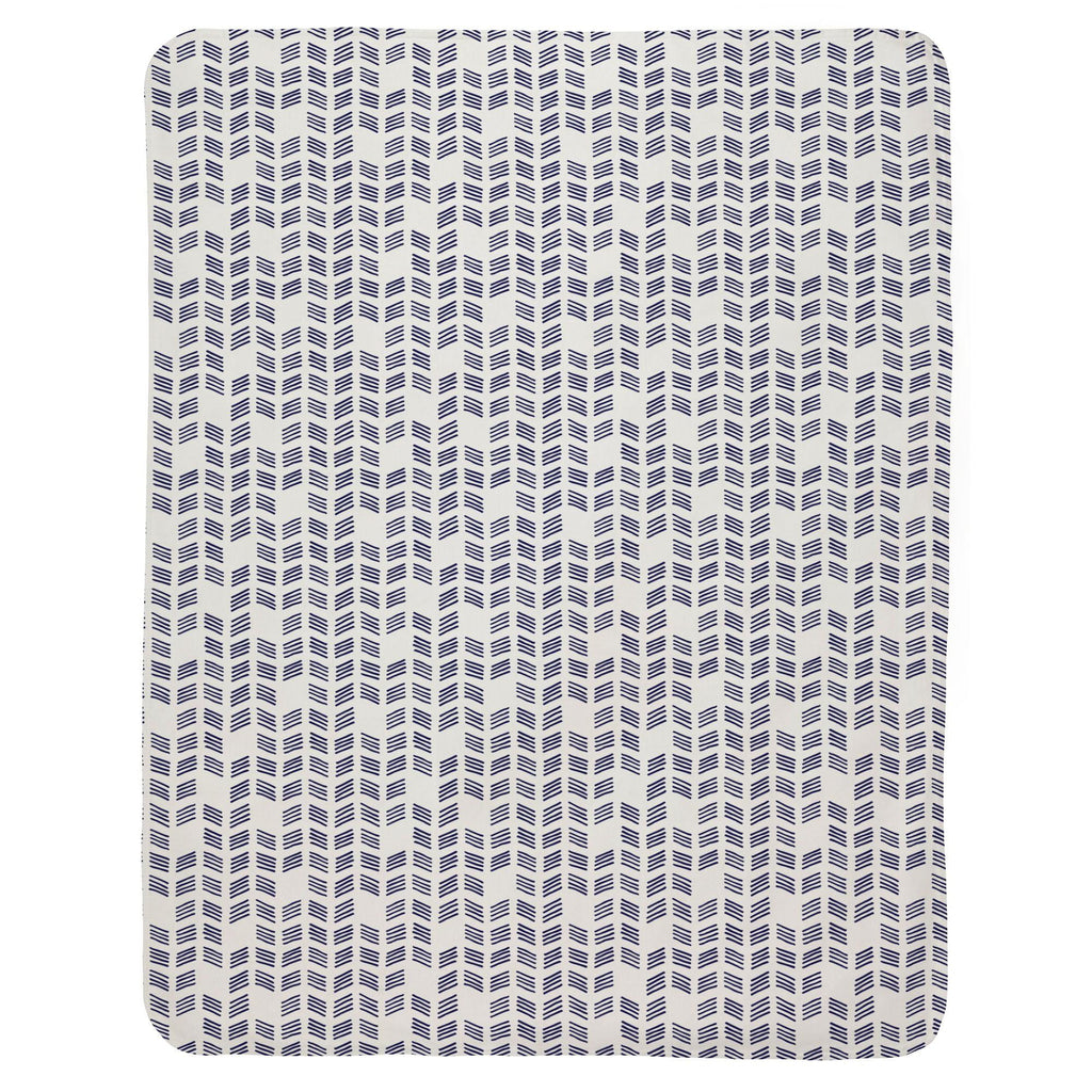 Product image for Windsor Navy Tribal Herringbone Baby Blanket