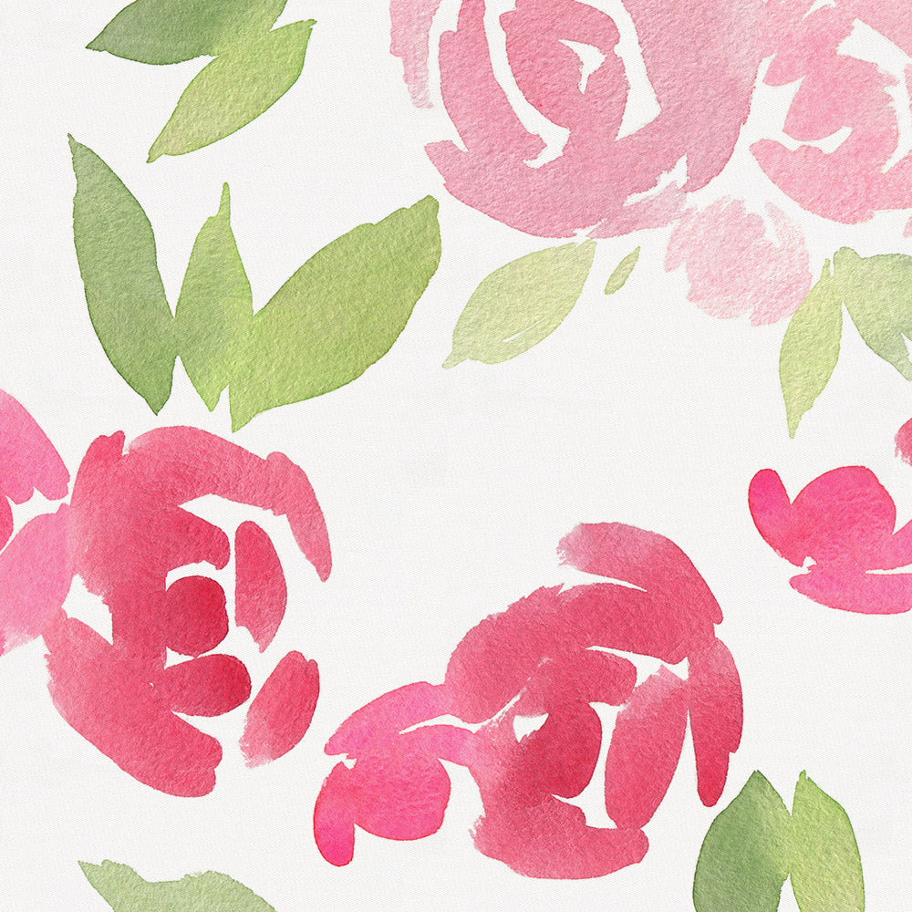 Product image for Watercolor Roses Pillow Sham
