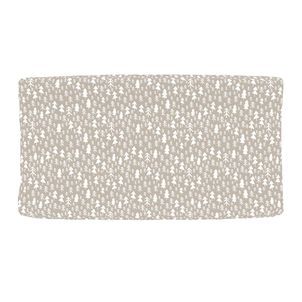 Product image for Taupe Baby Woodland Trees Changing Pad Cover