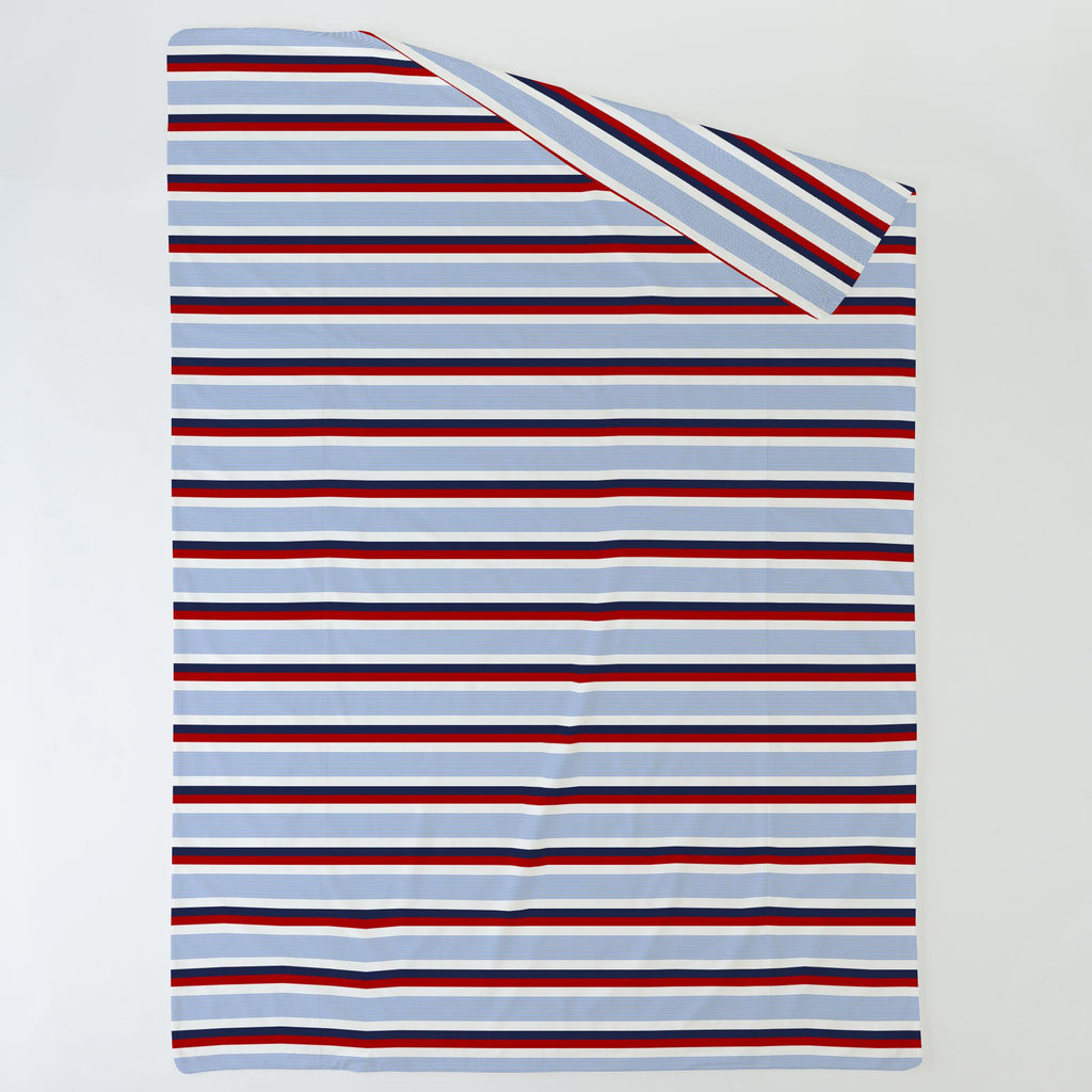Product image for Red and Blue Stripe Duvet Cover