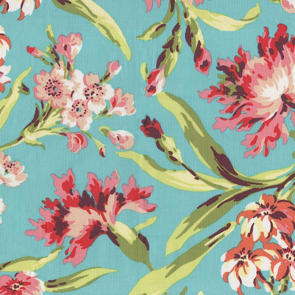 Product image for Coral and Teal Floral Window Valance
