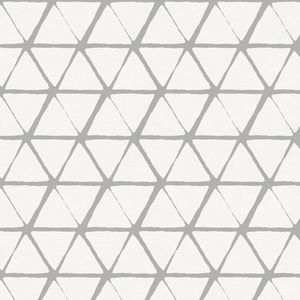 Product image for White and Silver Gray Aztec Triangles Drape Panel