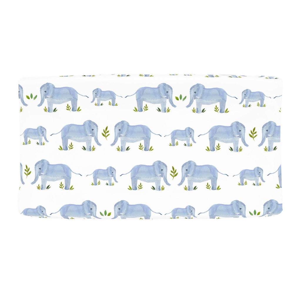 Product image for Painted Elephants Changing Pad Cover