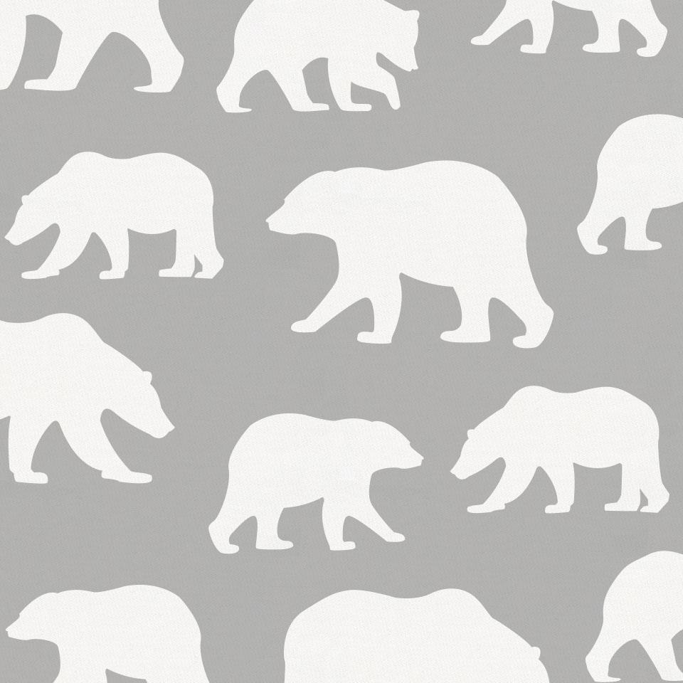 Product image for Silver Gray and White Bears Throw Pillow
