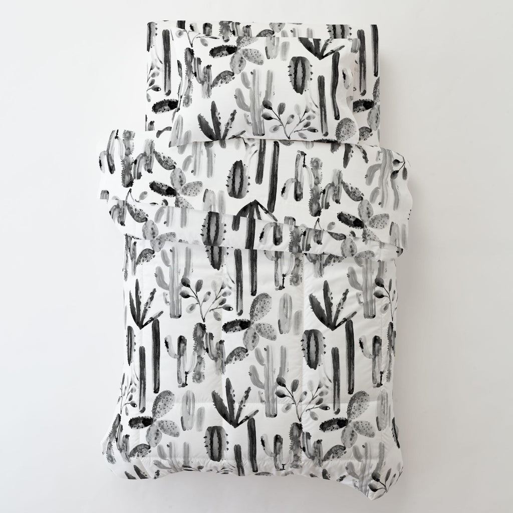 Product image for Charcoal Painted Cactus Toddler Comforter