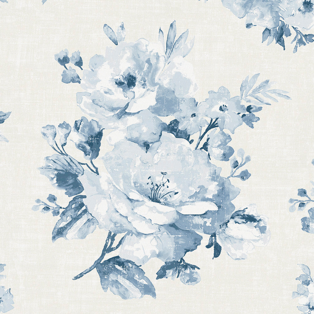 Product image for Blue Farmhouse Floral Drape Panel
