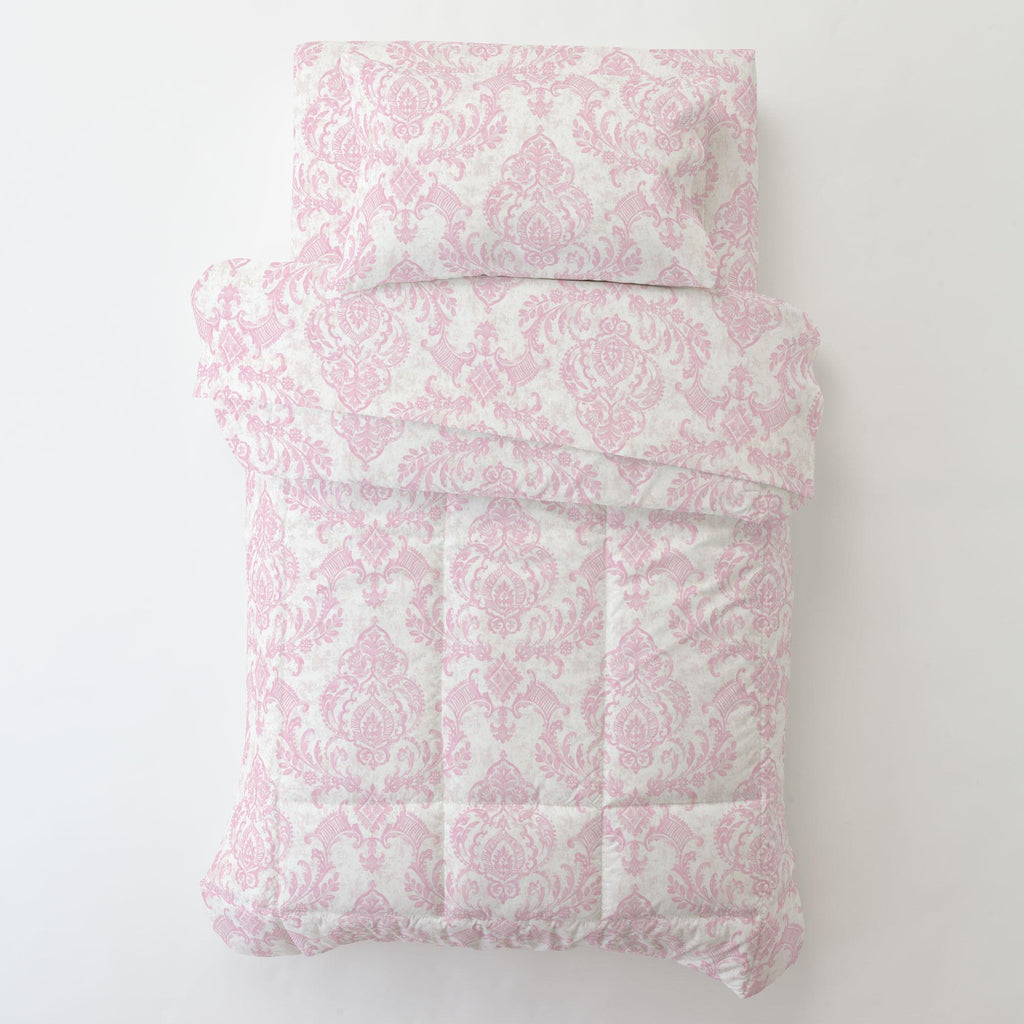Product image for Pink Painted Damask Toddler Comforter