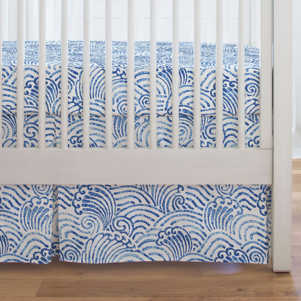 Product image for Blue Seas Crib Skirt Single-Pleat