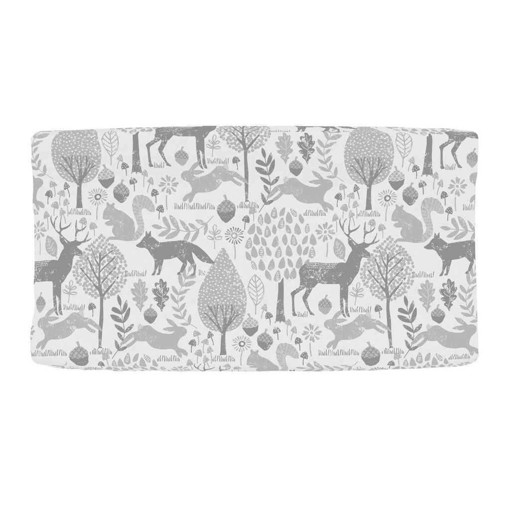 Product image for Gray Woodland Animals Changing Pad Cover