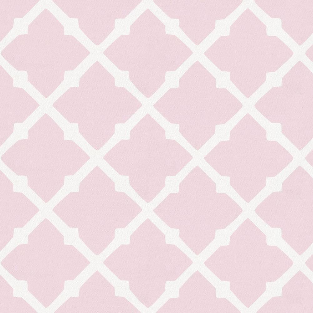Product image for Pink Lattice and Pink Primrose Drape Panel with Ties
