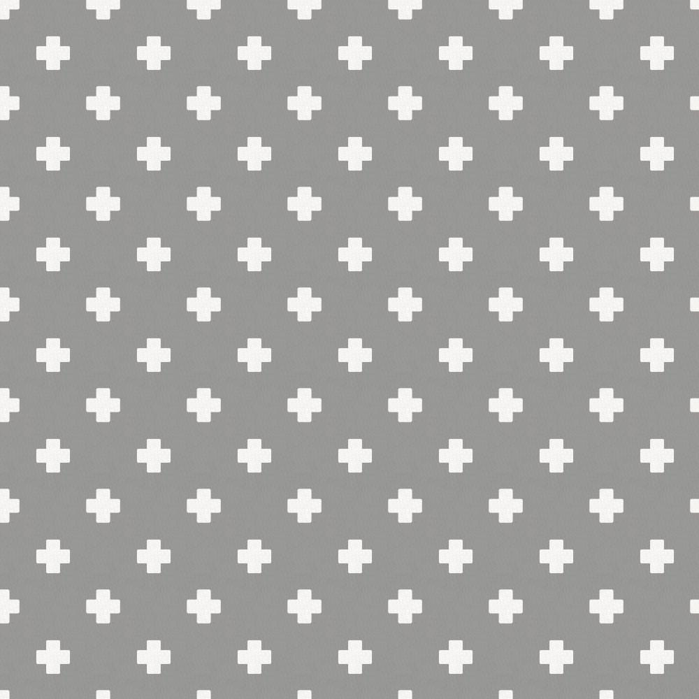 Product image for Gray Mini Swiss Cross Pillow Sham