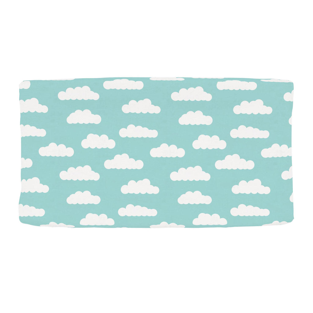 Product image for Seafoam Aqua Clouds Changing Pad Cover