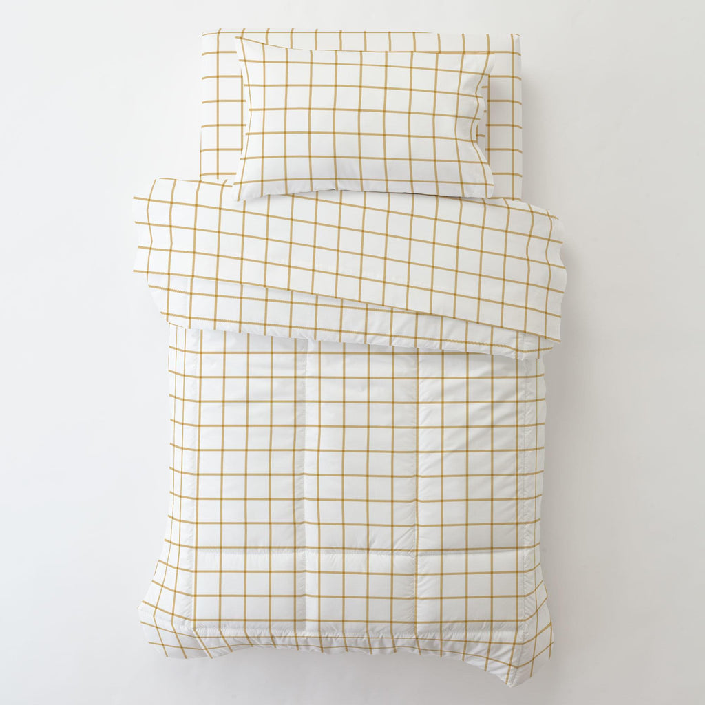 Product image for Mustard Windowpane Toddler Comforter