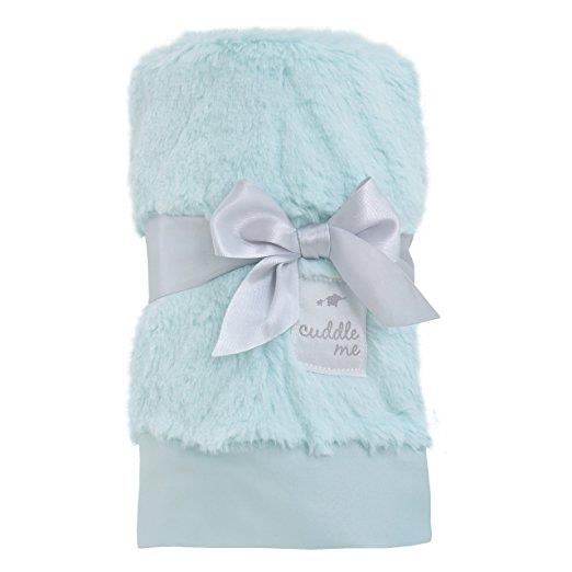 Product image for Aqua Cuddle Me Plush Chevron Blanket