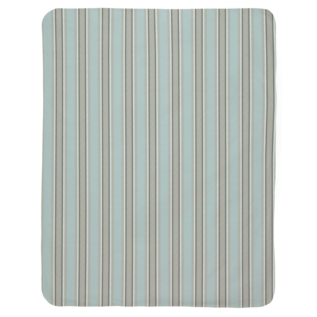 Product image for Mist and Gray Stripe Baby Blanket