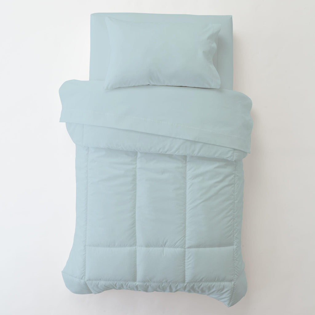 Product image for Solid Mist Toddler Pillow Case with Pillow Insert