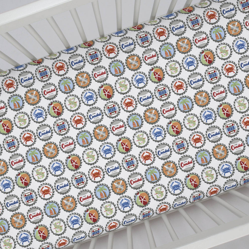 Product image for Bottle Caps Crib Sheet