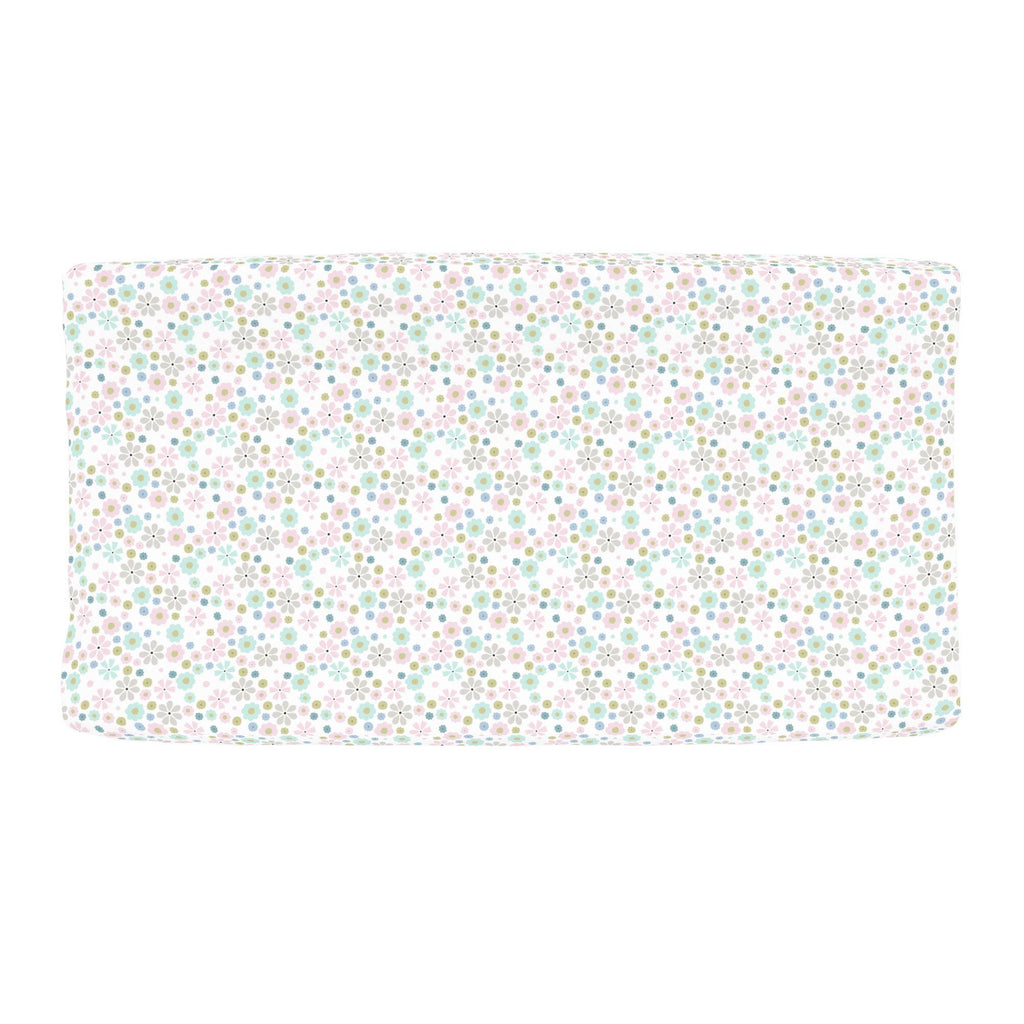 Product image for Pink Spring Flowers Changing Pad Cover