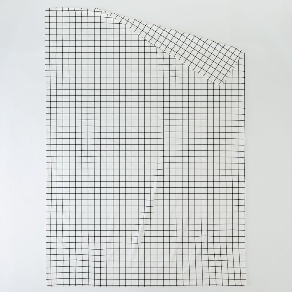 Product image for Onyx Windowpane Duvet Cover