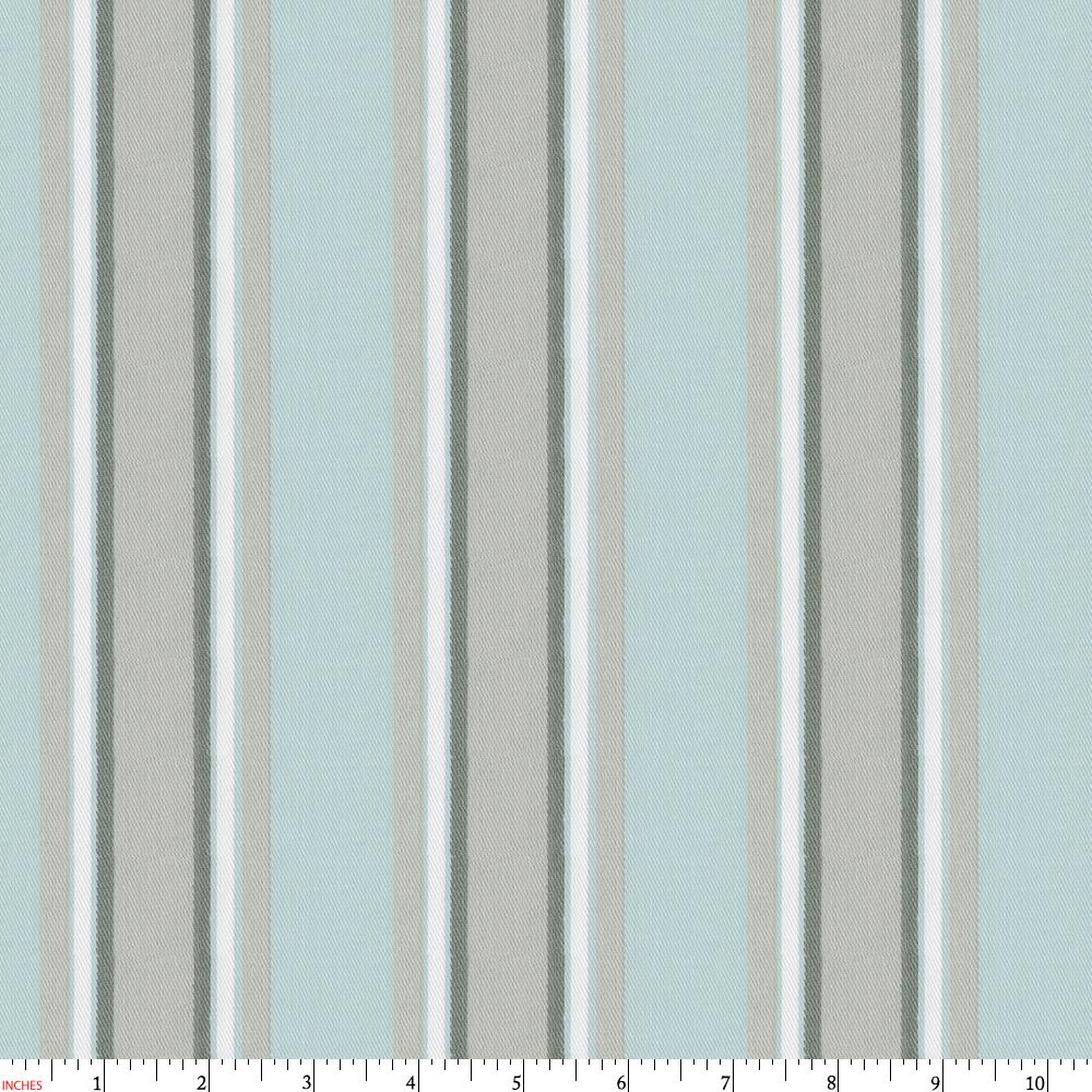 Product image for Mist and Gray Stripe Fabric
