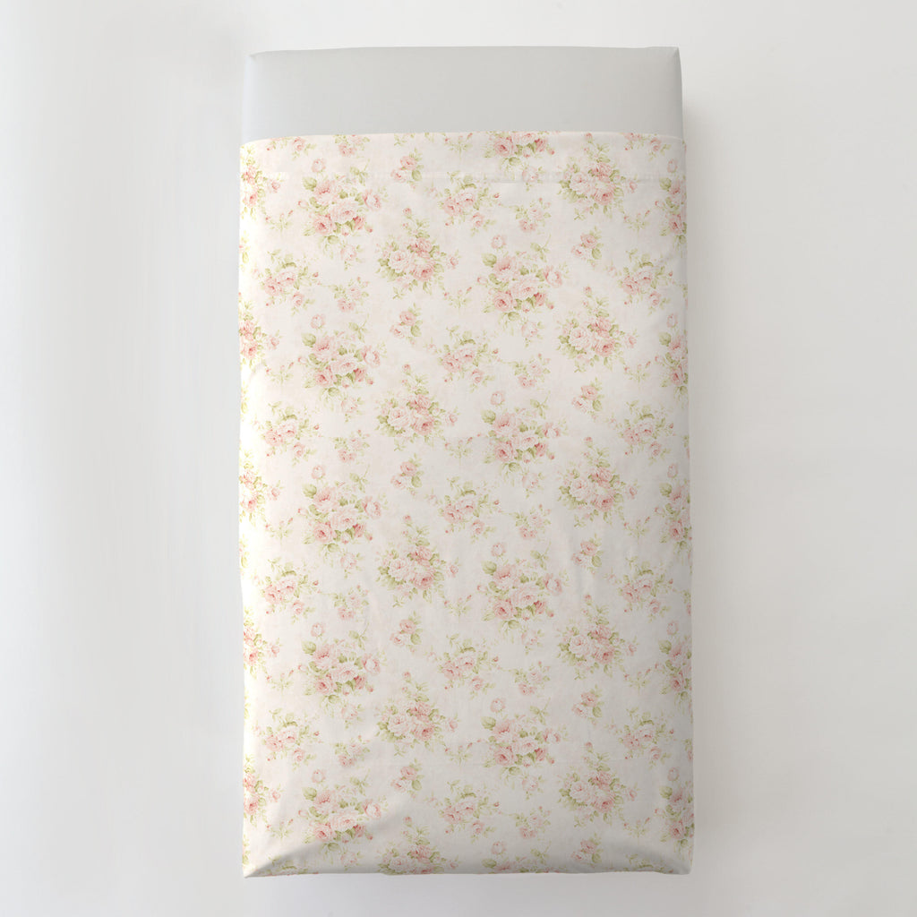 Product image for Pink Floral Toddler Sheet Top Flat