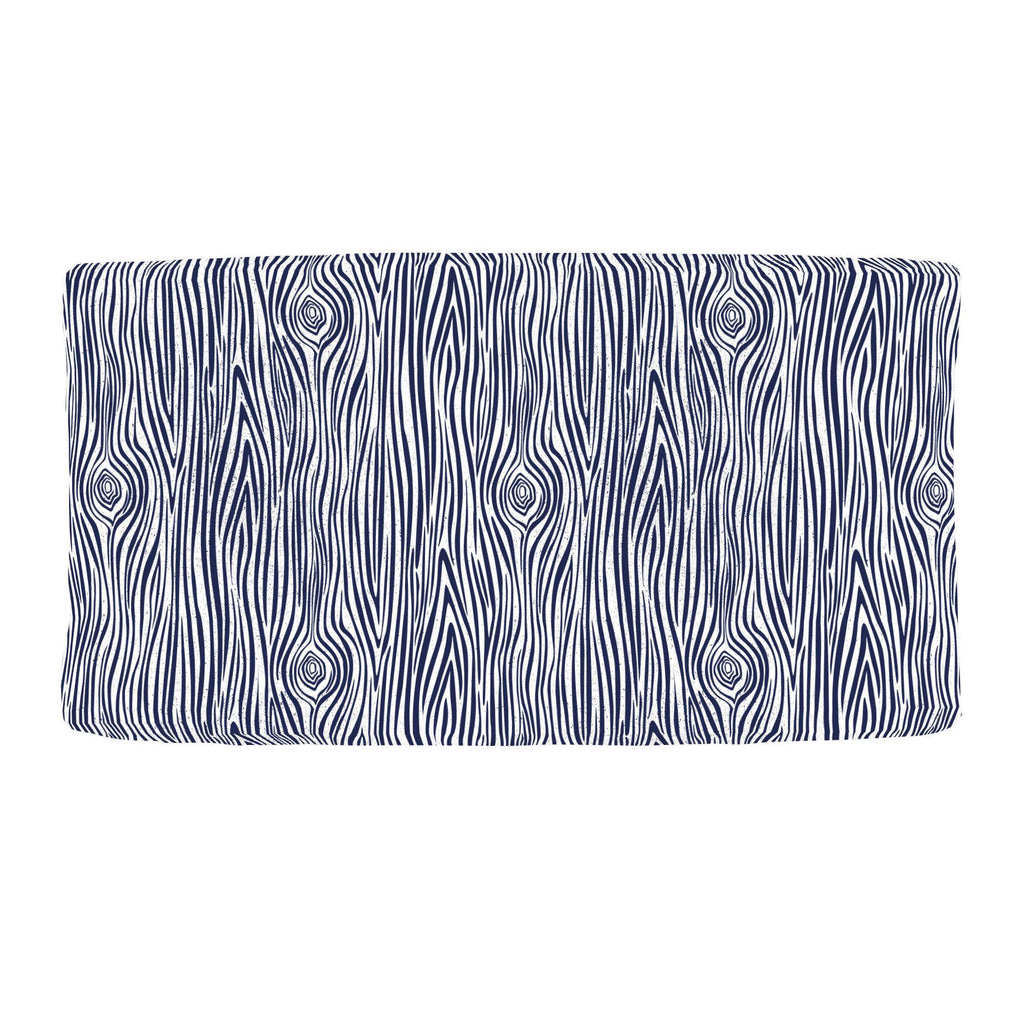 Product image for Navy Woodgrain Changing Pad Cover